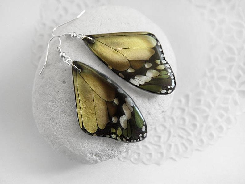 Primrose yellow earrings Butterfly earrings Fairytale gift