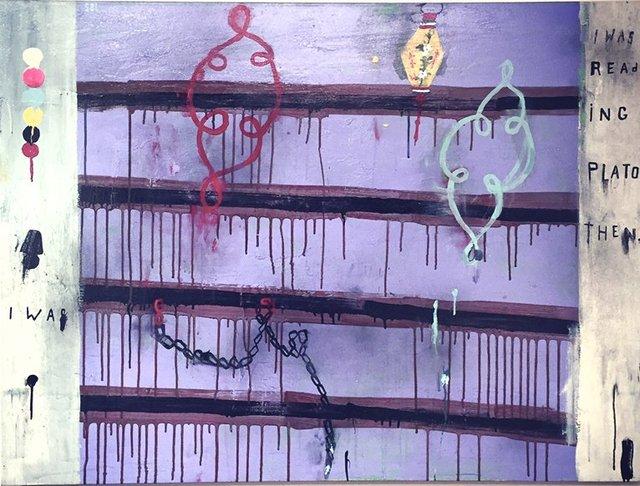 Purple Plato Painting by Stephanie Brody Lederman