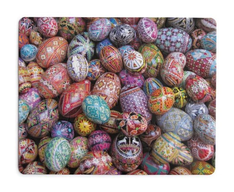 Pysanky poster Ukrainian Easter eggs patterns gift for mom