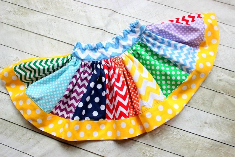 Rainbow skirt chevron skirt chevron rainbow skirt girls skirt