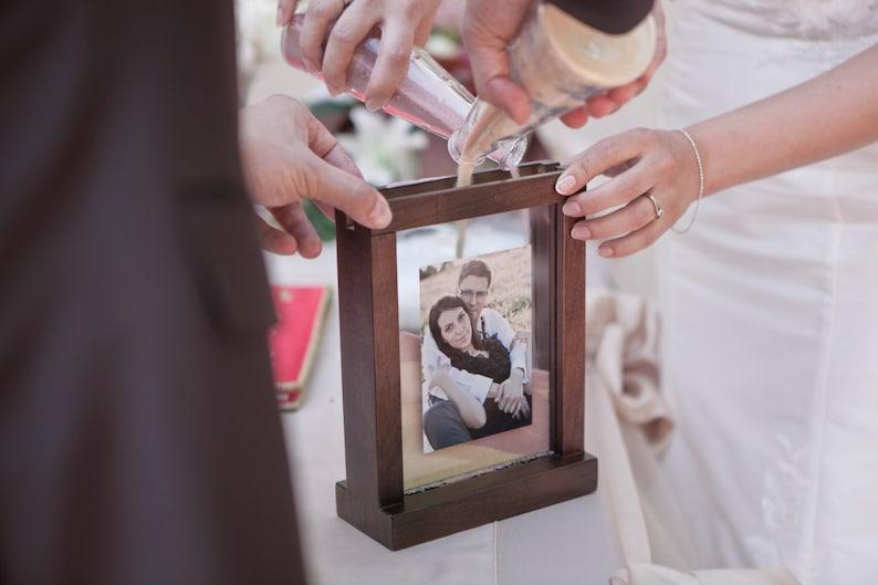 Rustic Wooden Unity Wedding Sand Ceremony Photo Frame  Unity