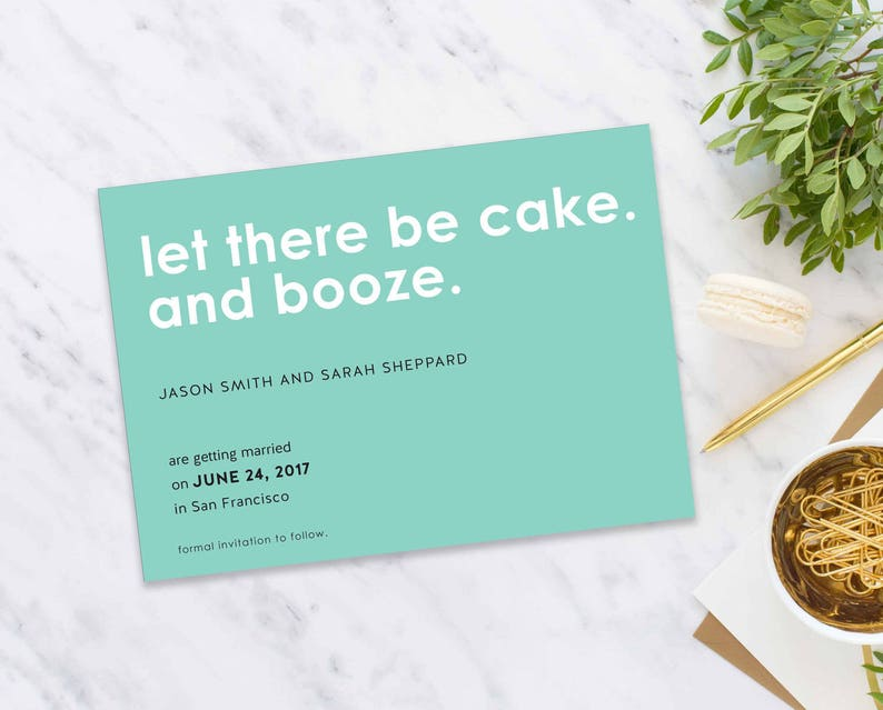 Save The Date Postcard Wedding Announcement Printable Save