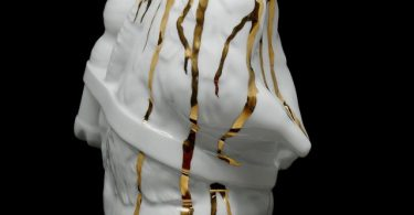 Sculpture Marmot GOLD Porcelain Edition by SWEETLOVE