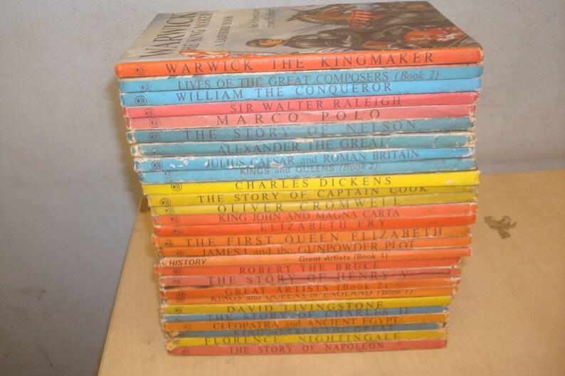 Set of 27 Historical figures Ladybird Books.  Mostly Good-VG