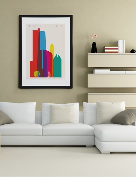 Shapes of Chicago, Fine Art Print by Yoni Alter