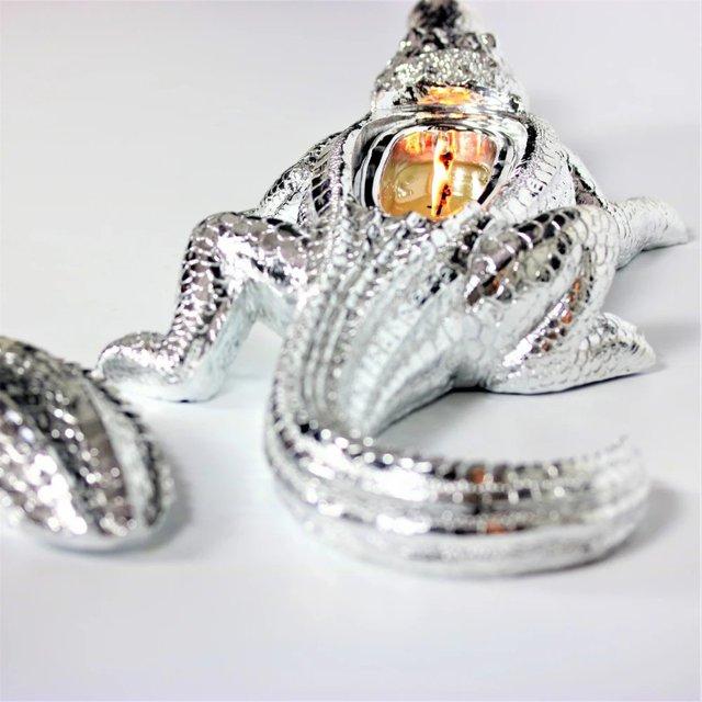 Silver Grand Alligator Candle