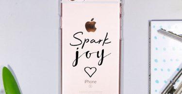 Spark Joy iPhone Case  Marie Kondo case  Quote phone case