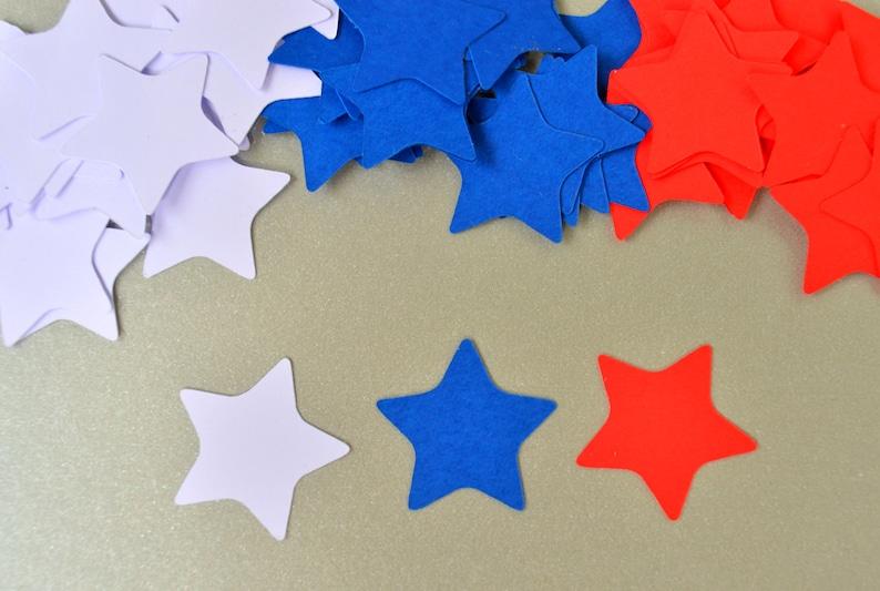 Star Confetti Patriotic Confetti Party Decor Fourth of July