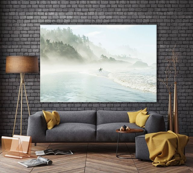 Suhrie – Catching the Morning Surf, Giant Canvas Print by  1X, 72 x 48 inches