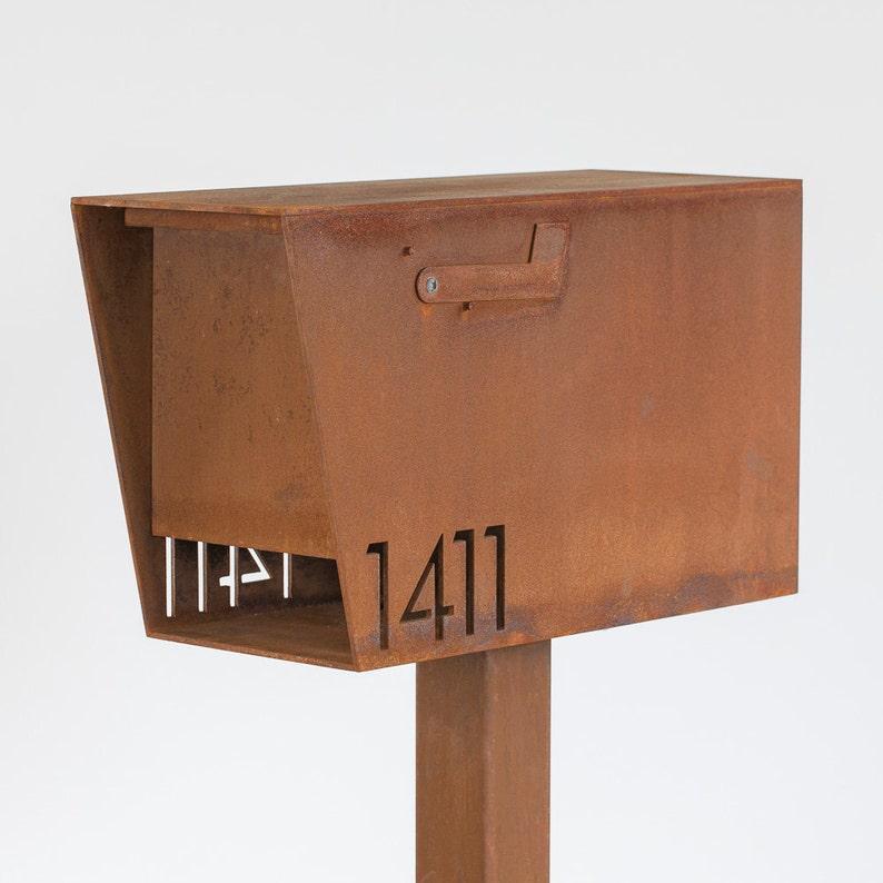 The Dexter Custom Mailbox  Steel Modern Metal Letter Box