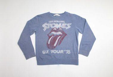 The Rolling Stones kids swearshirt US Tour 1978 English rock