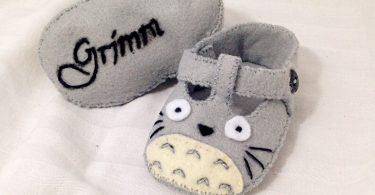 Totoro Baby Shoes Baby Booties Baby Slippers Handmade in