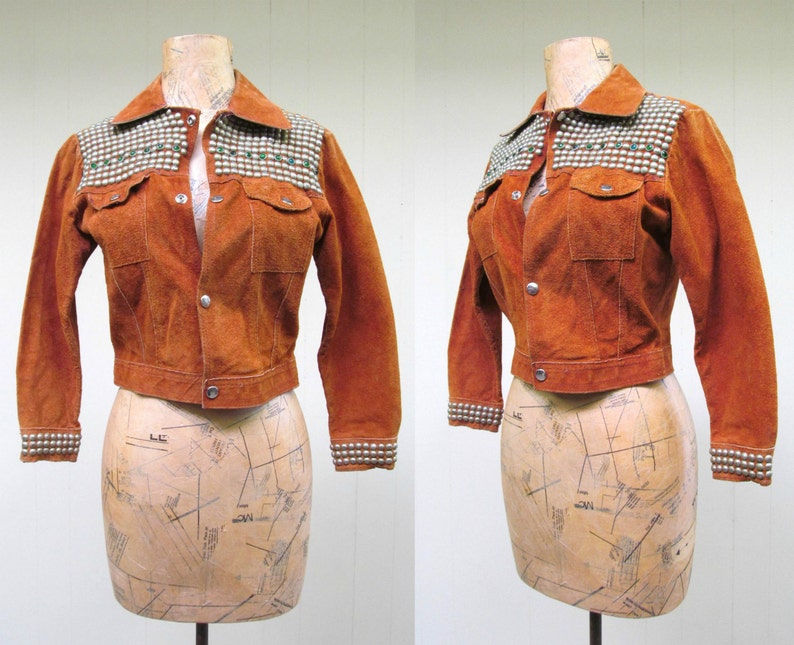 Vintage 1970s Li'l Rockstar Jacket 70s Rust Rough-Out