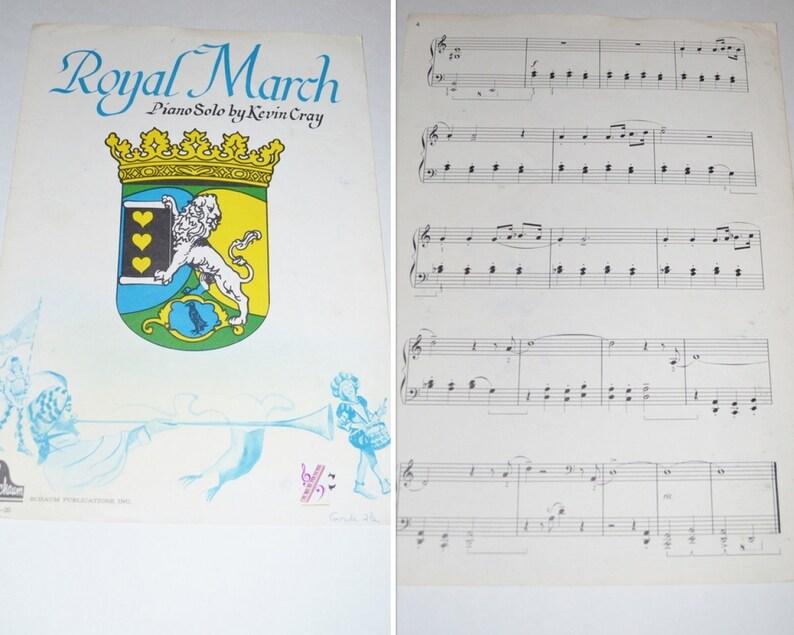 Vintage Royal March Sheet Music Kevin Cray Piano