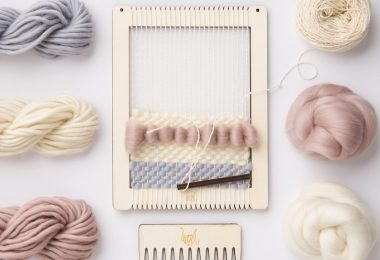Weaving Loom Kit.  Small rectangular lap loom.  Learn to frame