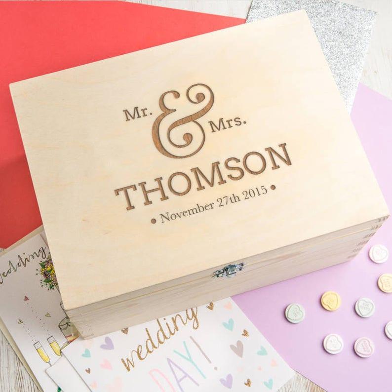 Wedding Keepsake Box  Wedding Gifts For Couples Parents Bride