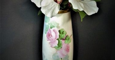 Antique Hand Painted Vienna Austrian Vase  Roses  Leonard