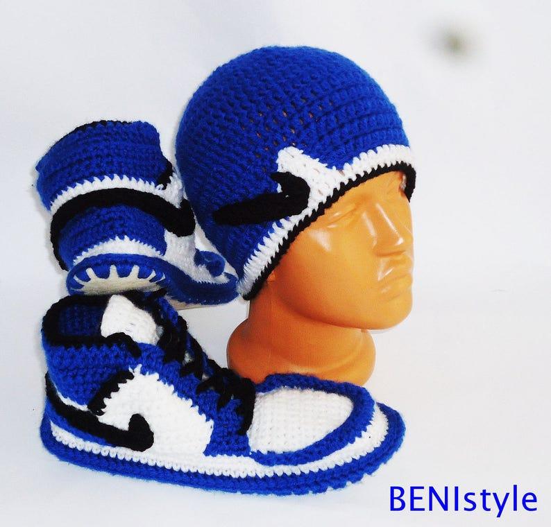 Blue Air Jordan Shoes Crochet Converse Slippers Adult Shoes