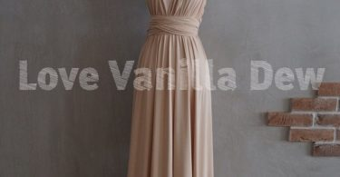 Bridesmaid Dress Infinity Dress Champagne Floor Length Maxi