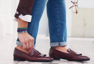 CESAR NAPPA BROWN LOAFERS