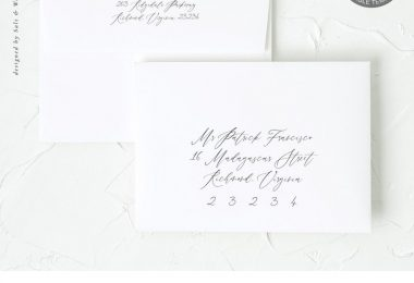 Calligraphy Wedding Envelope Address Template / Editable and