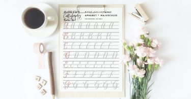 Calligraphy practice sheets learn calligraphy capital