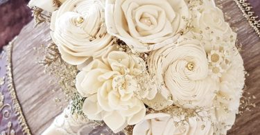 Champagne Ivory Sola Bouquet Wedding Flowers Sola Flowers