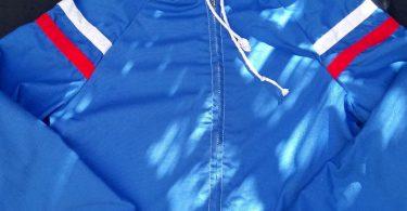 Child's Lightweight Blue Cotton Jacket  Retro early 1980s