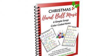 Christmas Hand Bell Music EBook 6 Song Sheets Poster and