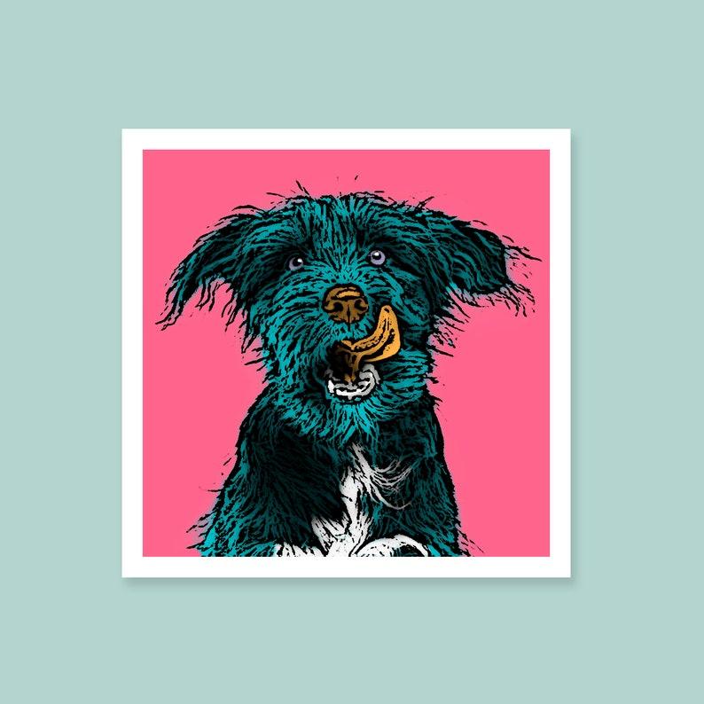 Custom pet portrait. dog portrait from your photos. Andy