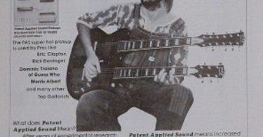 Eric Clapton uses a PAS guitar pickups on his doubleneck