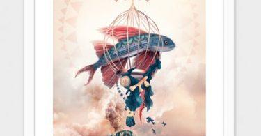 Fly-Fish- Numbered Art Print by Tatiana Kazakova from Curioos