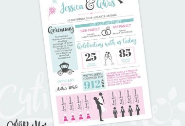Infographic Wedding Program Design Silhouettes  All