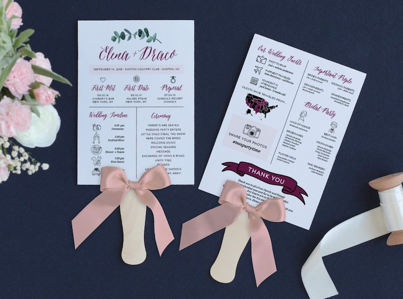 Infographic wedding program template fun wedding programs