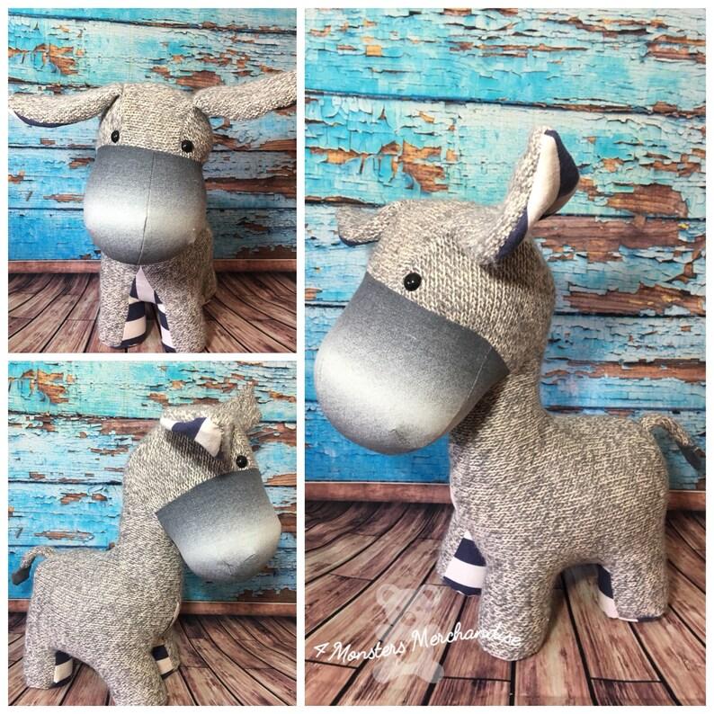 Keepsake Donkey memory bear personalized keepsake handmade