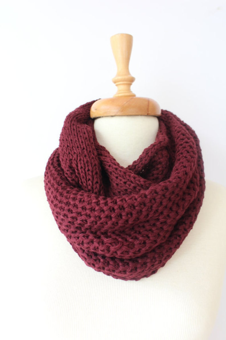 Knit Scarf unique gifts infinity Scarf Chunky Scarf