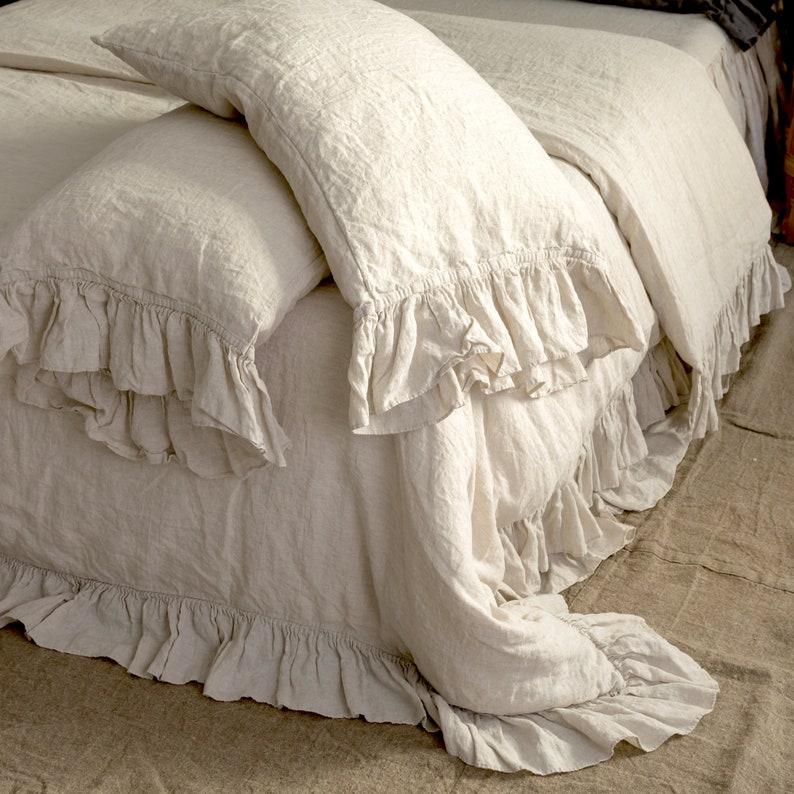 LINEN DUVET COVER .  Linen bedding set . Shabby Chic linen