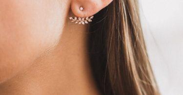 Leaf Ear Jackets Minimalist Earrings Silver Leaf Earrings