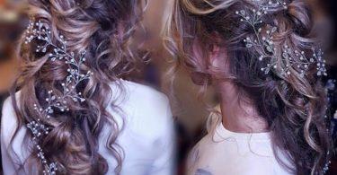 Long Hair Vine Bridal Wedding Hair Vine Crystal Hair Peice