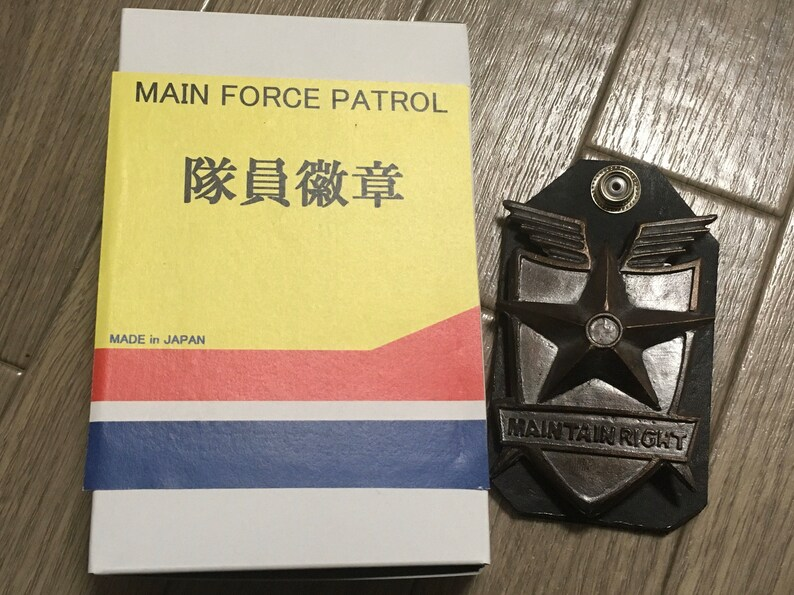 MADMAX MFP Full Metal Badge with Leather Badge Base