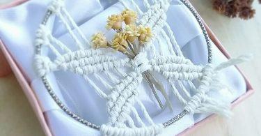 Macrame wall hanging Floral ornament Boho decor Wedding favors