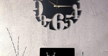 Numbers Metal Wall Clock
