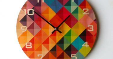 Objectify Grid2 Wall Clock With Numerals