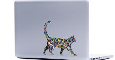 Ornate Cat laptop sticker  cat lover FREE SHIPPING kitten