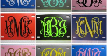 Personalized MONOGRAM License Plate Choose your Plate AND