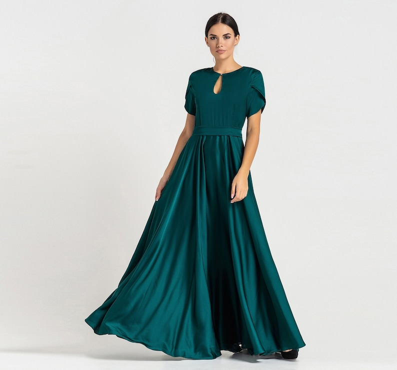 Prom Bridesmaid Cocktail Dresses for women Infinity Green