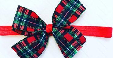 Red And Green Plaid Xmas Hair Bow Christmas Hair Bows Girls