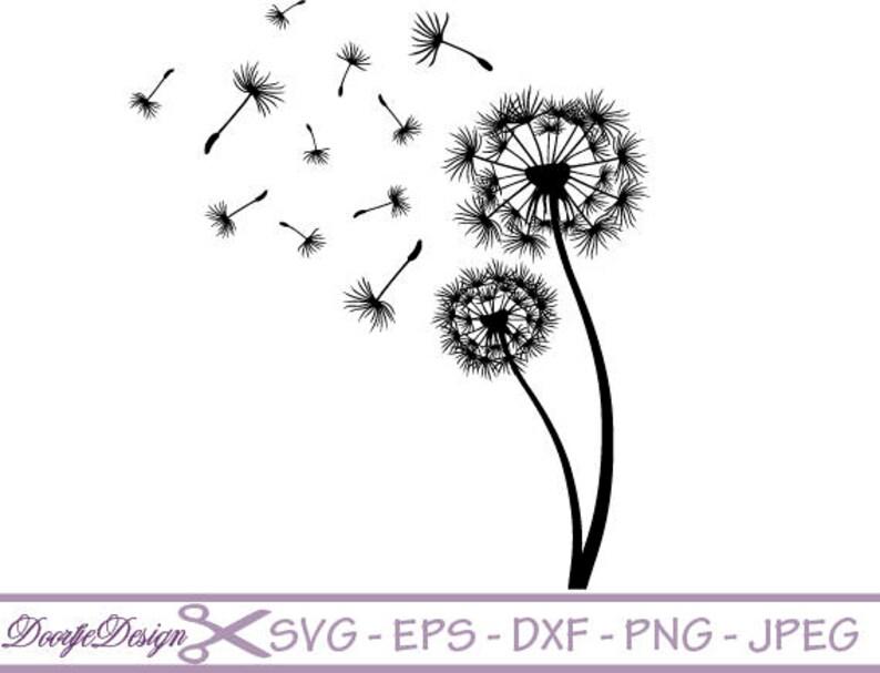 SVG files vector Dandelion vector files for cricut floral