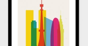 """""""Shapes of Tokyo Print by Yoni Alter"""
