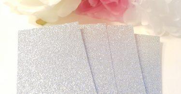 Silver Belly bands Glitter Bellybands Wedding Invitation